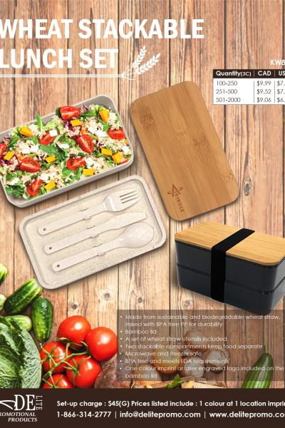 KW871 WHEAT STACKABLE LUNCH SET-L