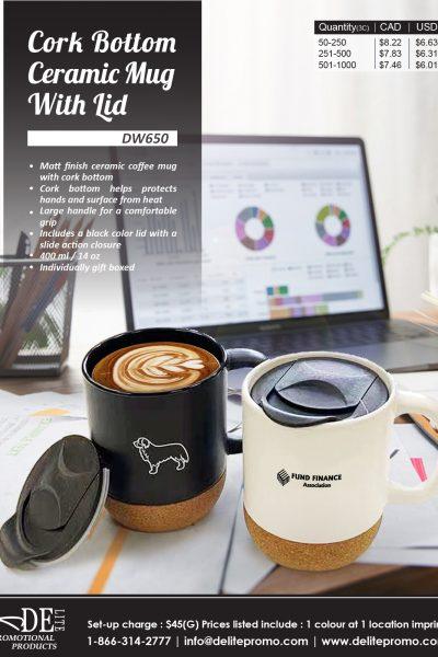 corkbottom ceramic mug-L
